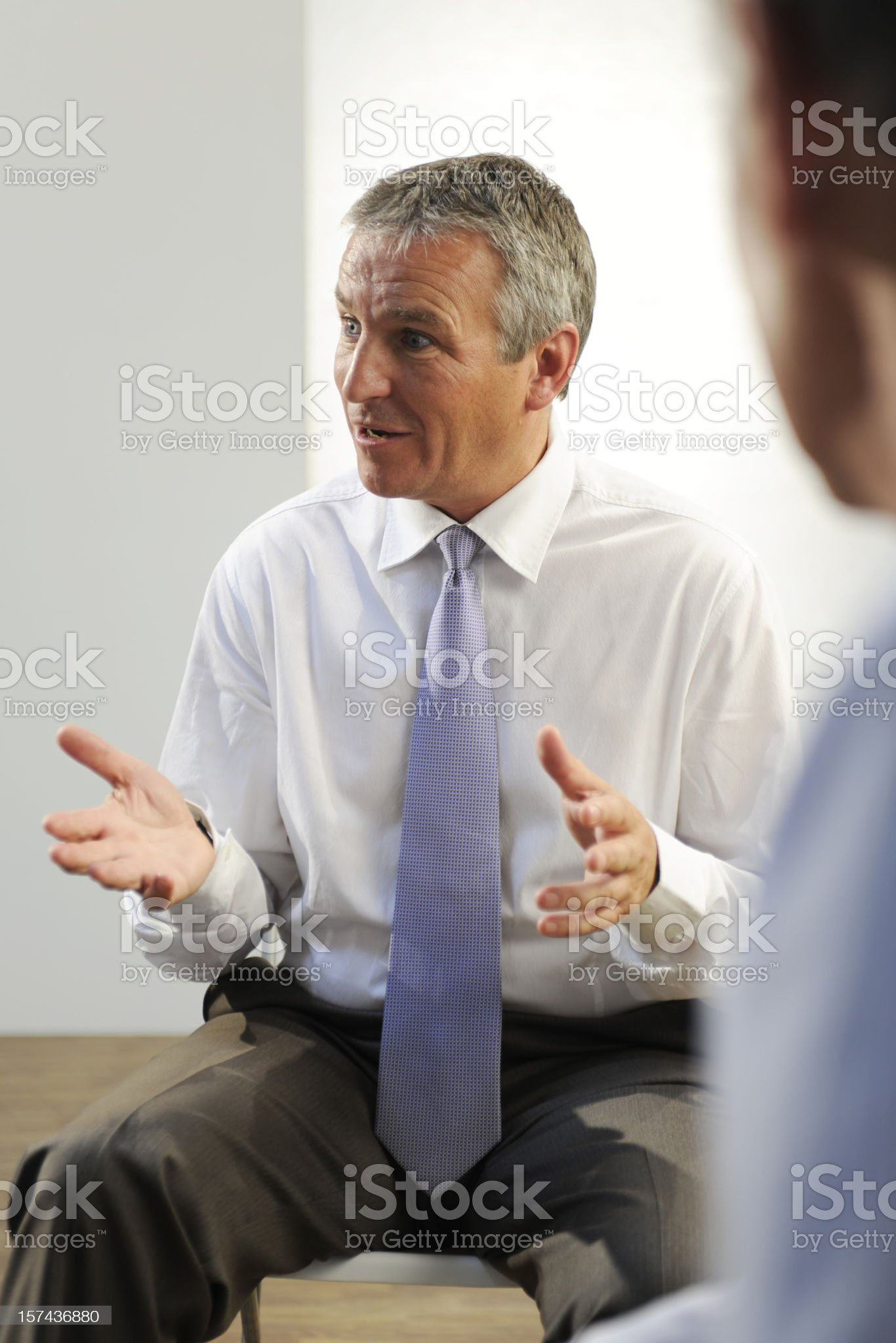senior business men royalty-free stock photo