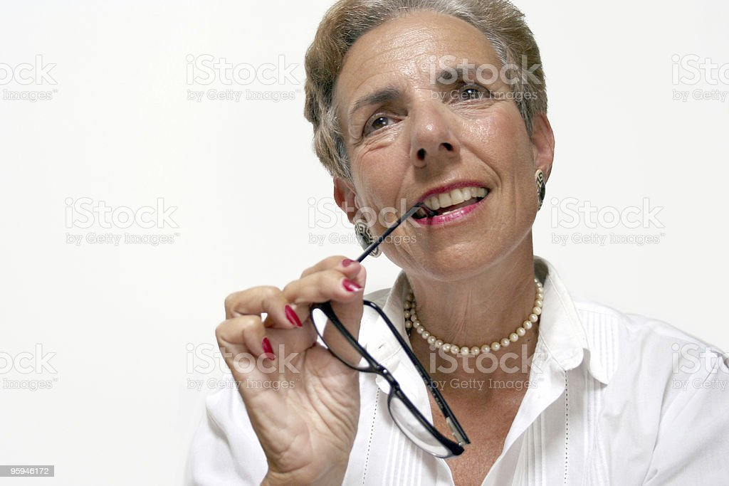 Senior Business Woman with Glasses royalty-free stock photo