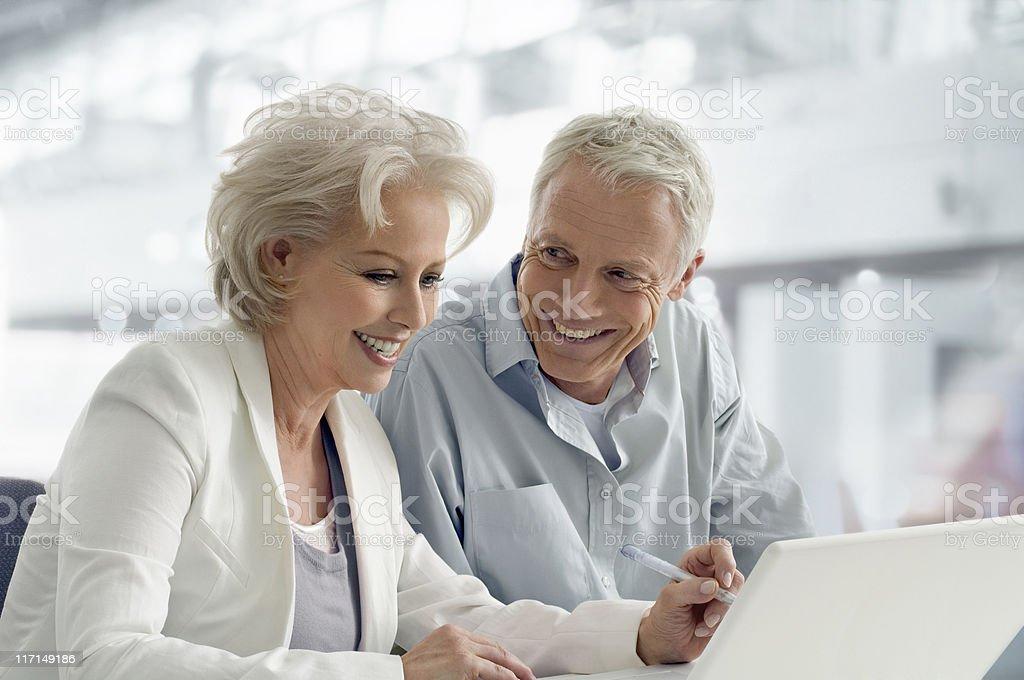 Senior Businesscouple stock photo