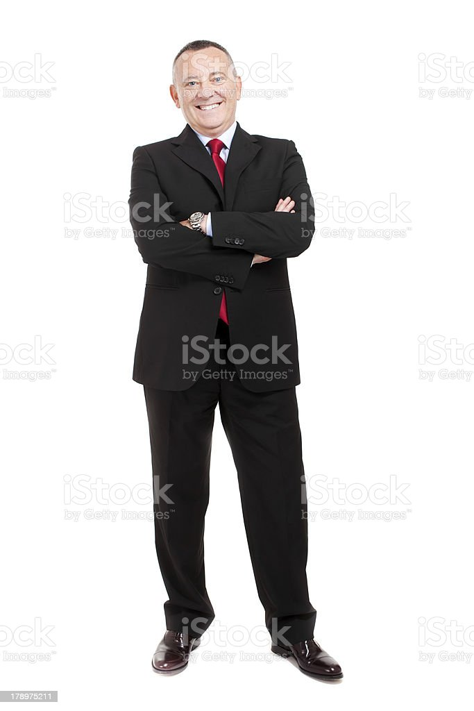 Senior businessman full length royalty-free stock photo