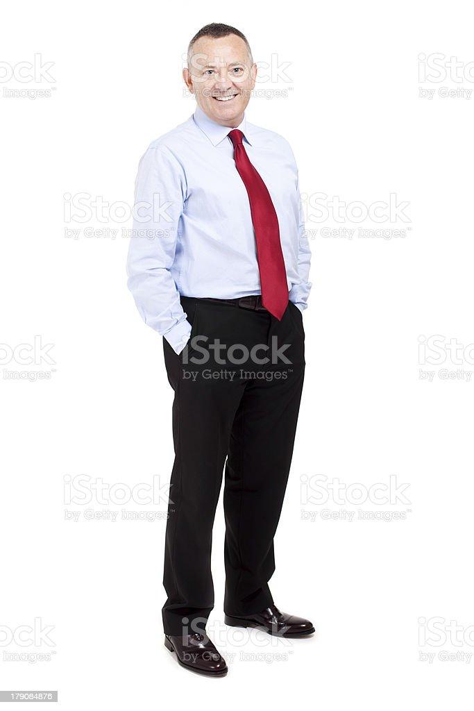 Senior businessman full length royalty-free stock photo