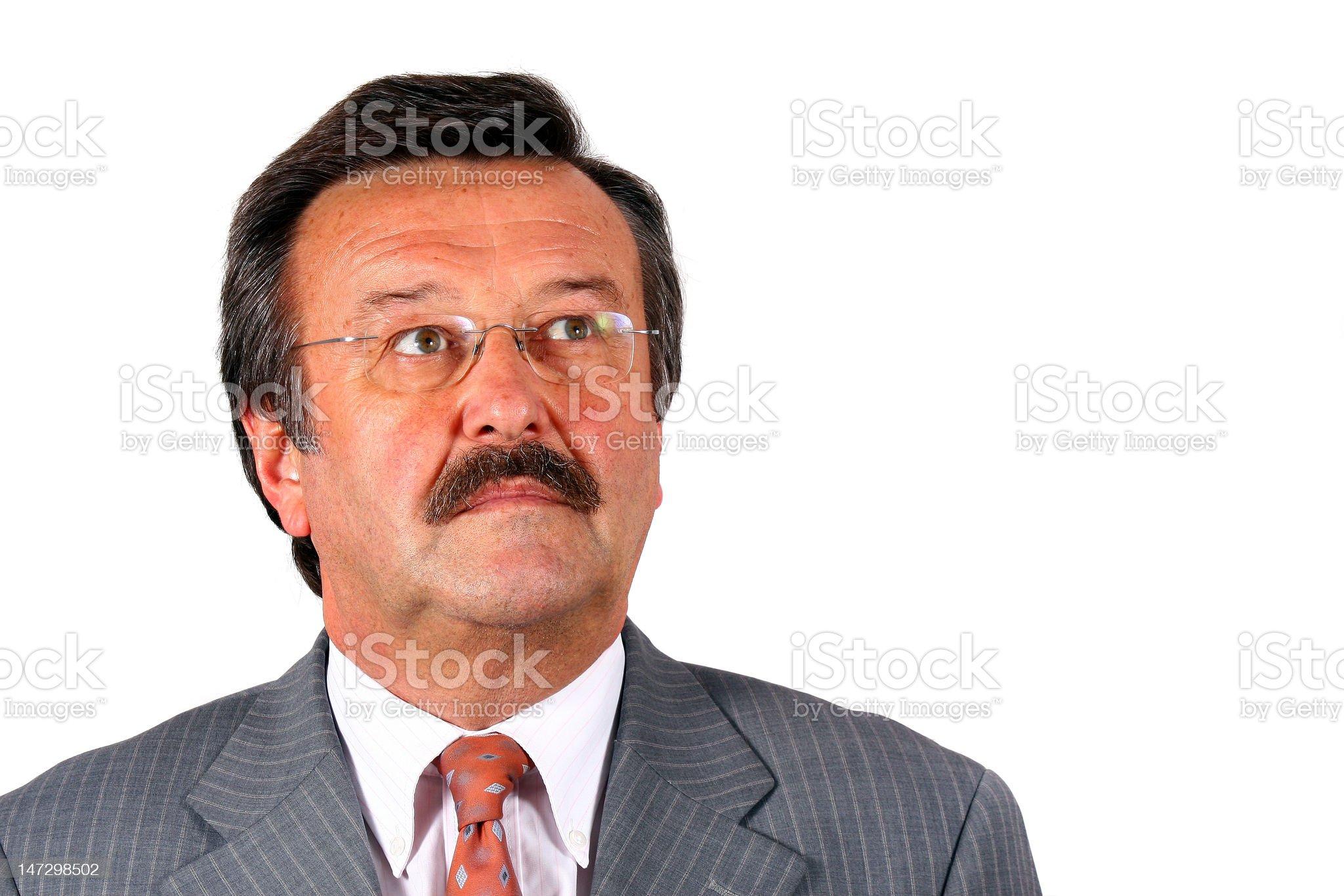 Senior Businessman Looking Up royalty-free stock photo