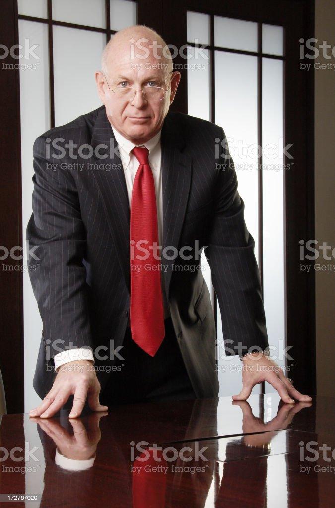 Senior businessman portrait royalty-free stock photo