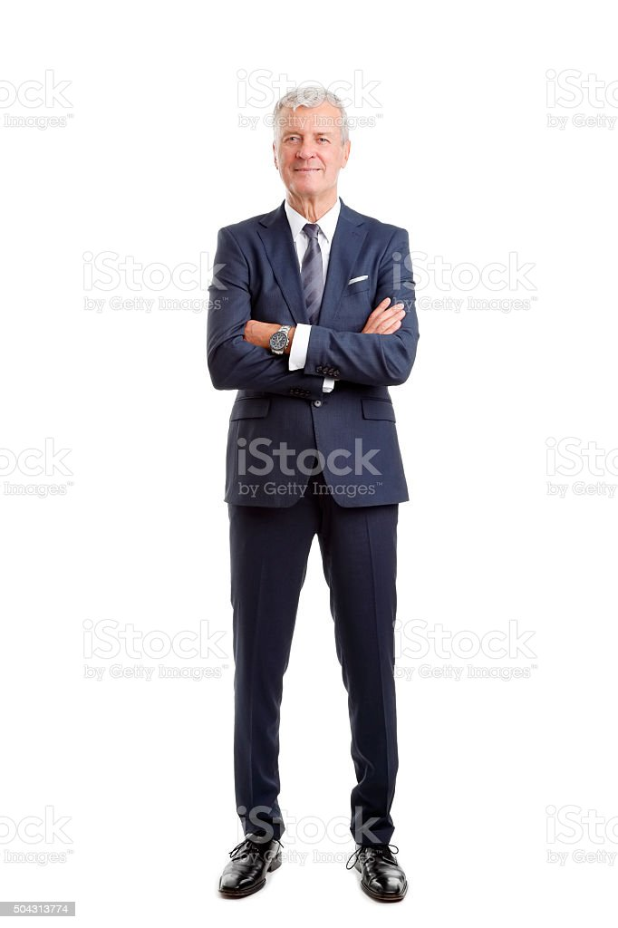 Senior businessman portrait stock photo