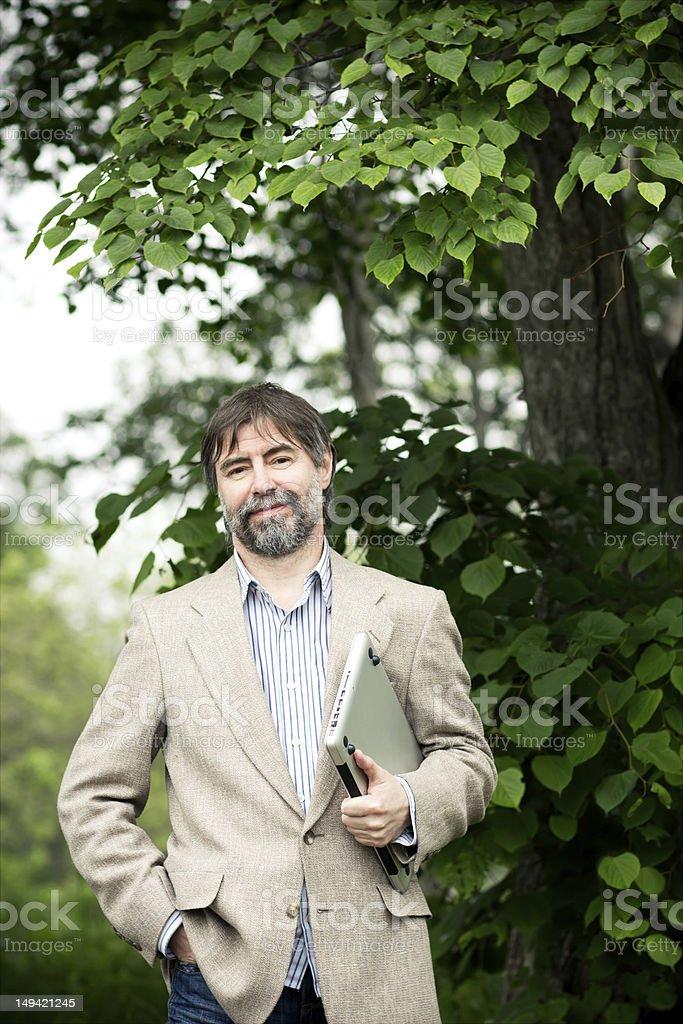 senior businessman smiling royalty-free stock photo