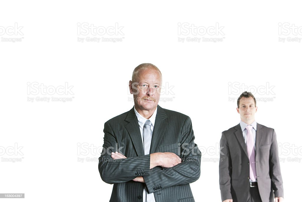 Senior businessman with arms crossed royalty-free stock photo