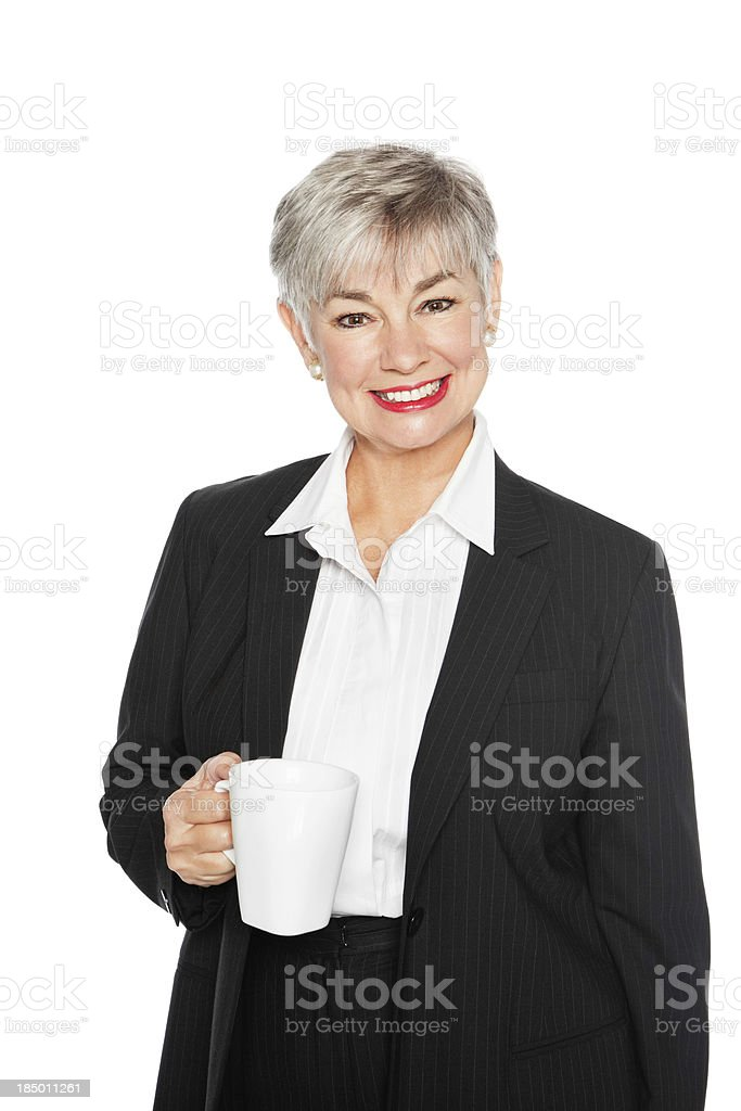 Senior Businesswoman On Coffee Break royalty-free stock photo