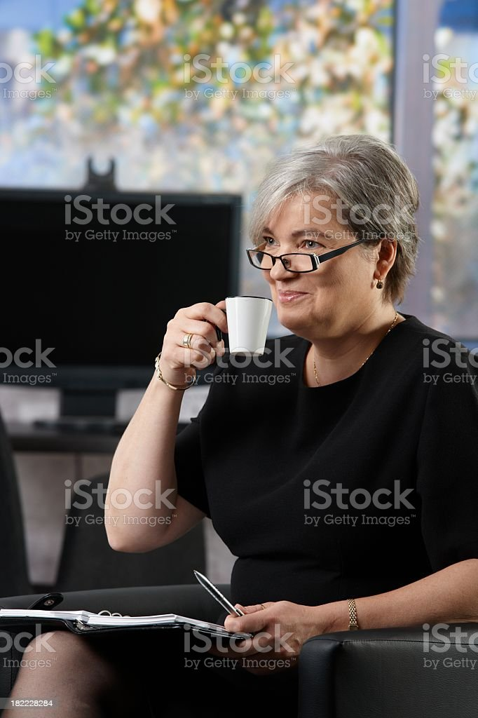 Senior businesswoman royalty-free stock photo