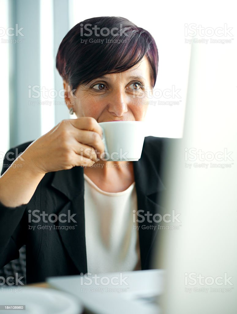 Senior businesswoman royalty-free stock photo