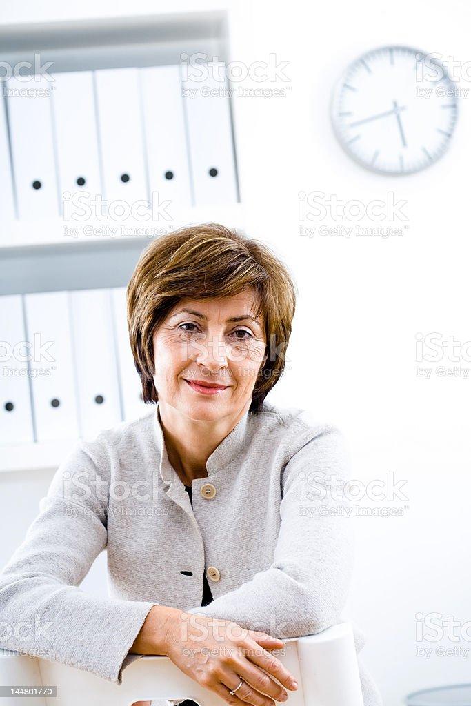 Senior businesswoman posing stock photo