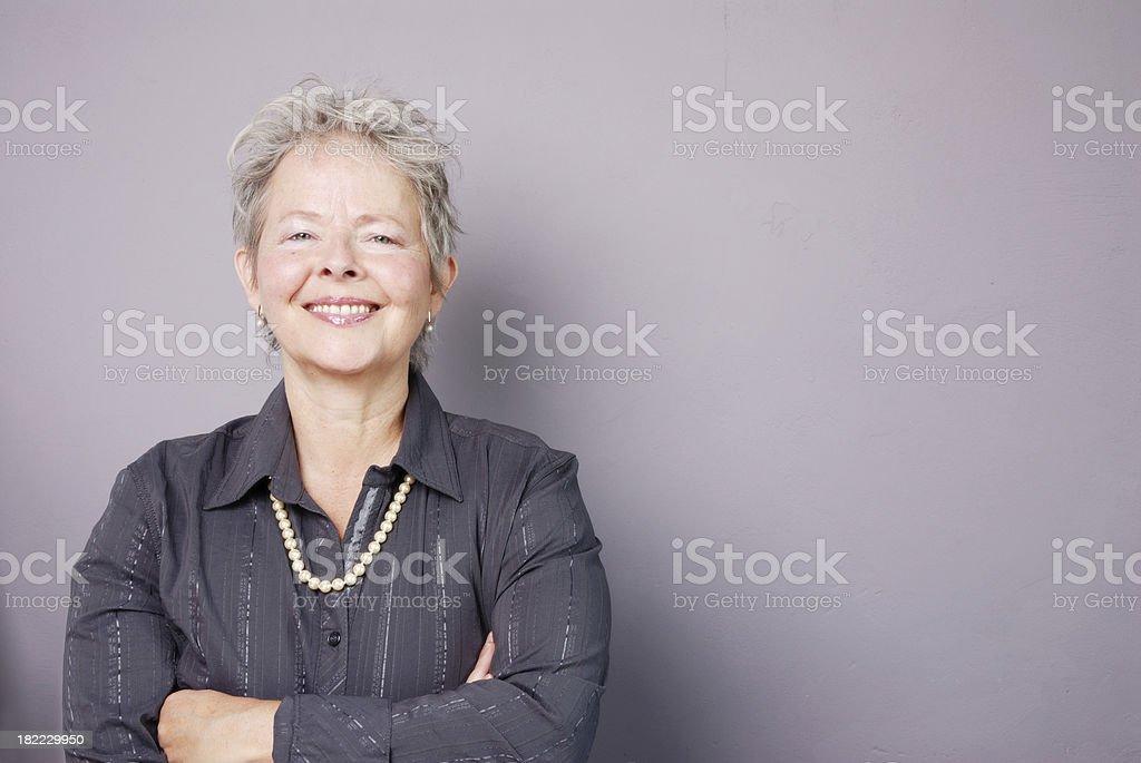 senior businesswoman smiling royalty-free stock photo
