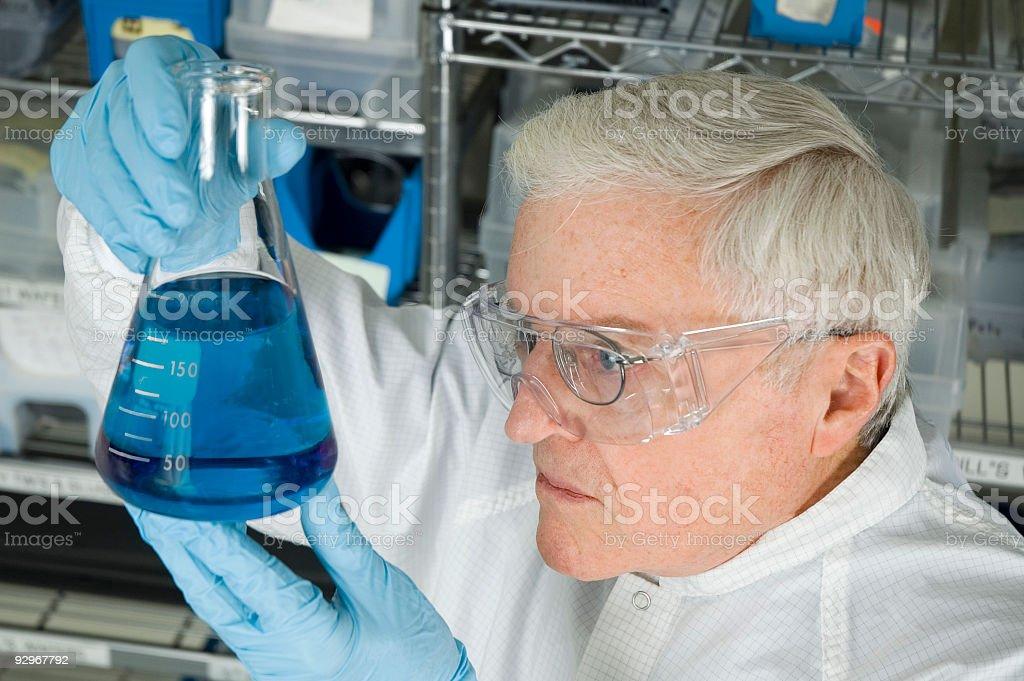 Senior chimico-Serie foto stock royalty-free