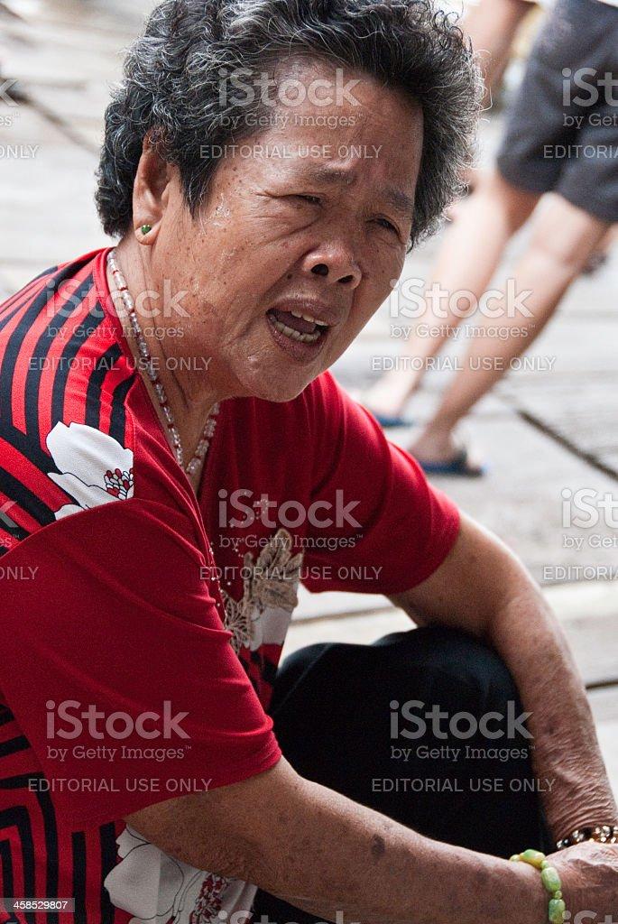 Senior Chinese Malaysian Women royalty-free stock photo
