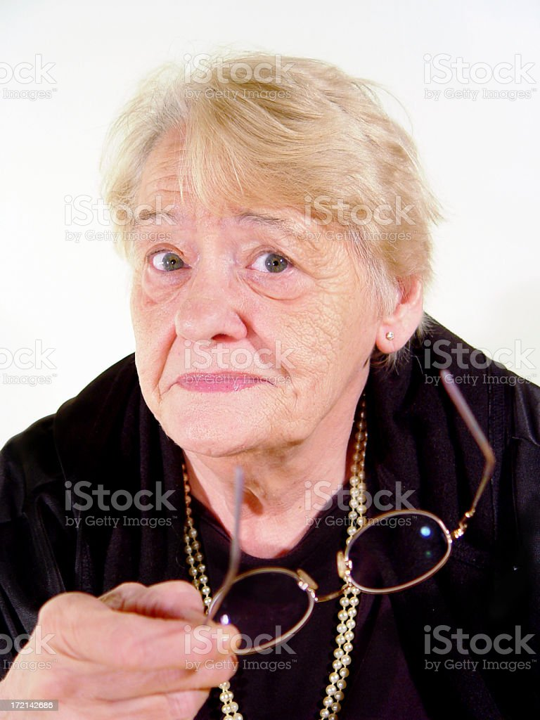 senior - choosing glasses royalty-free stock photo