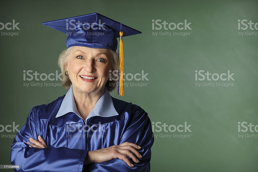 Senior Citizen Graduate stock photo