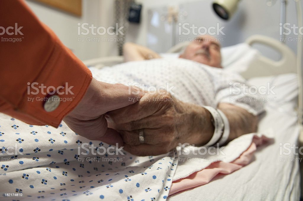 Senior Citizen - Hospital Sick stock photo