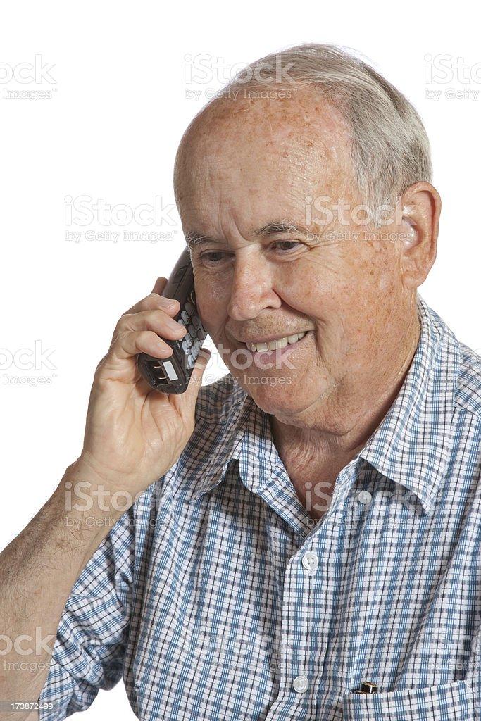 Senior Citizen on the Phone royalty-free stock photo