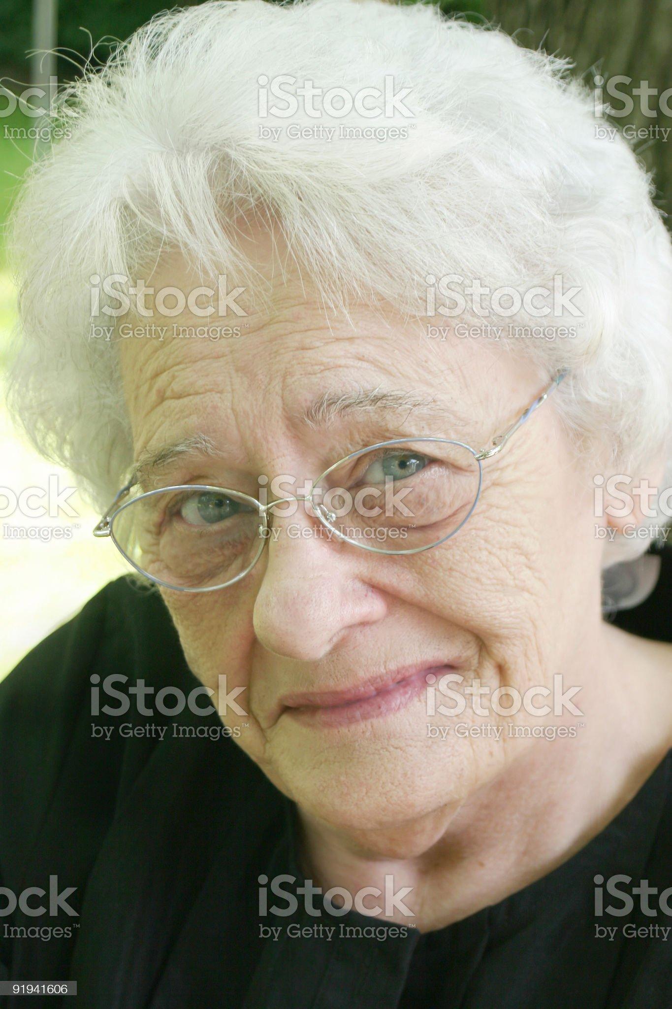 senior citizen smile royalty-free stock photo