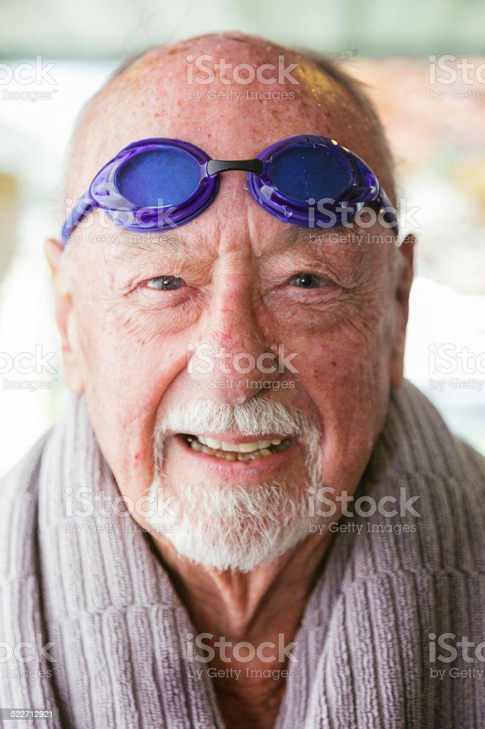 Senior Citizen Swimmer stock photo