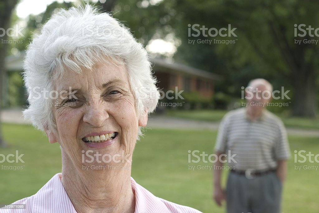Senior Citizens - Enjoying Retirement royalty-free stock photo