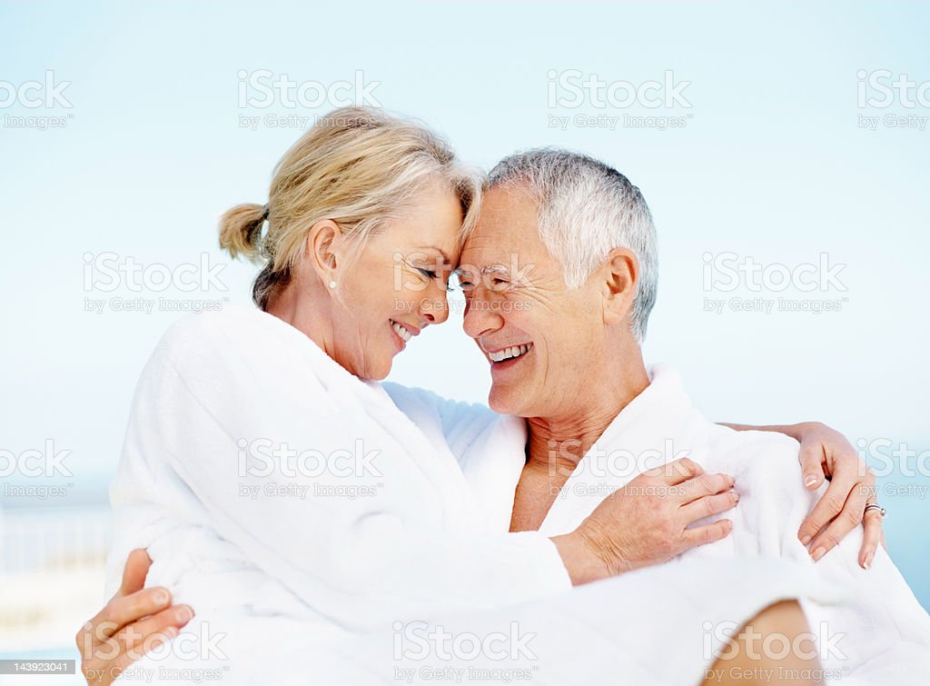 Senior citizens in love royalty-free stock photo