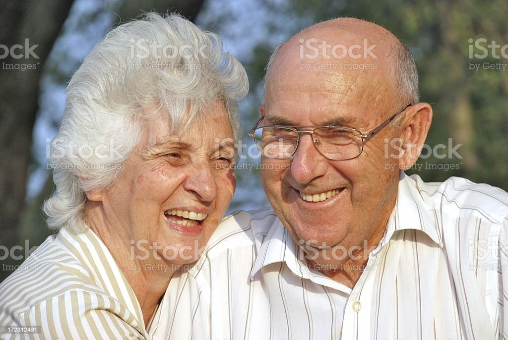 Senior Citizens In Love royalty-free stock photo