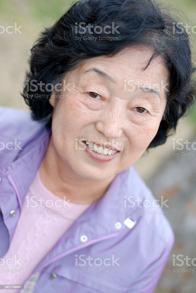 Senior close up royalty-free stock photo