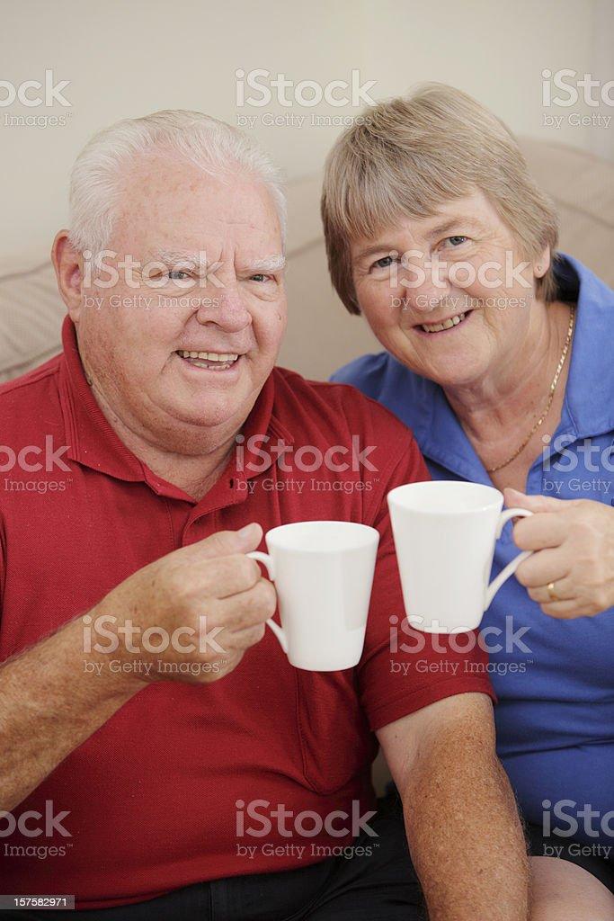 Senior Coffee Break royalty-free stock photo