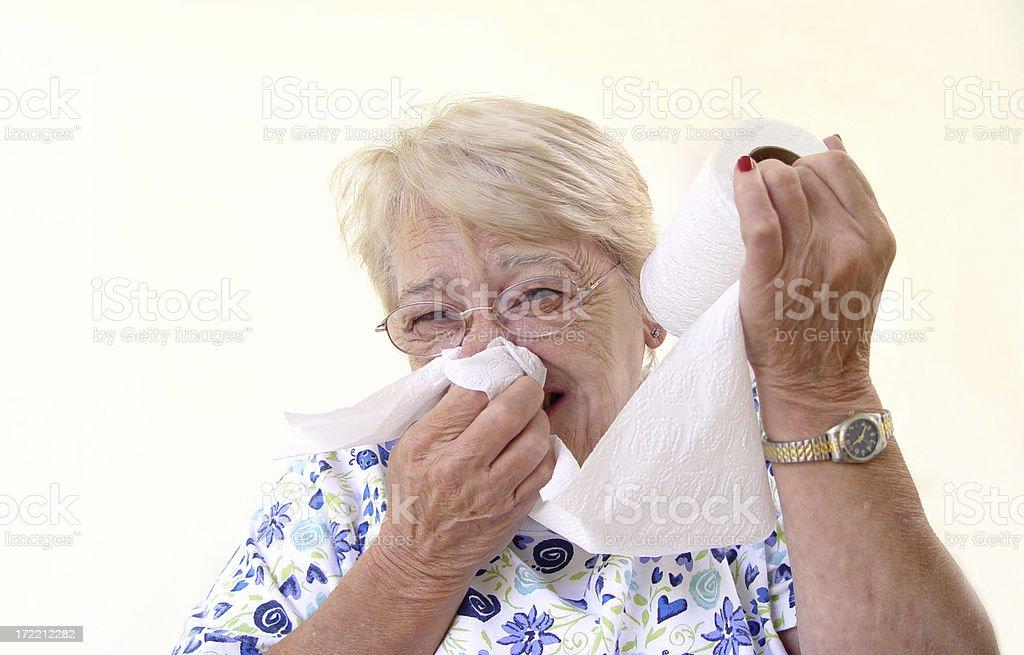 senior - cold and flu season stock photo