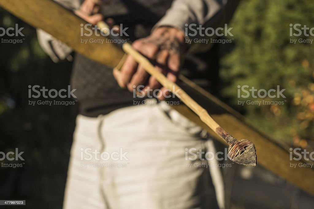 Senior competitive archer royalty-free stock photo