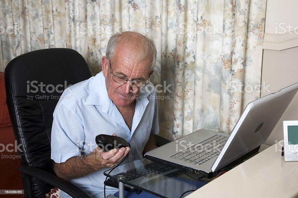 Senior Computer stock photo