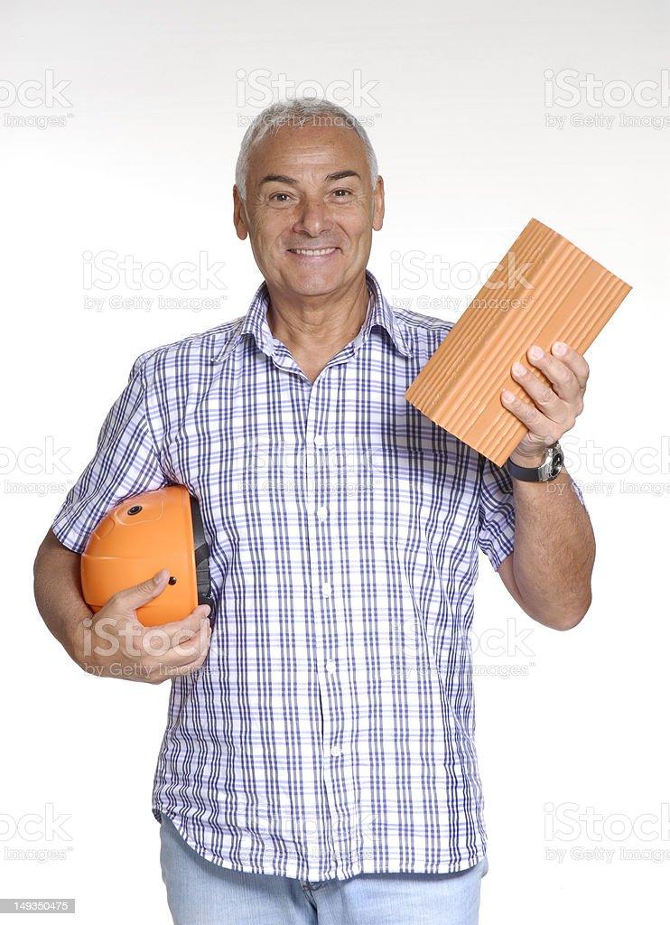 Senior construction. royalty-free stock photo
