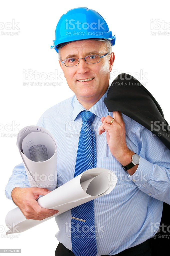 Senior construction worker royalty-free stock photo