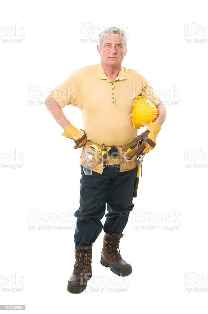 Senior constructor royalty-free stock photo