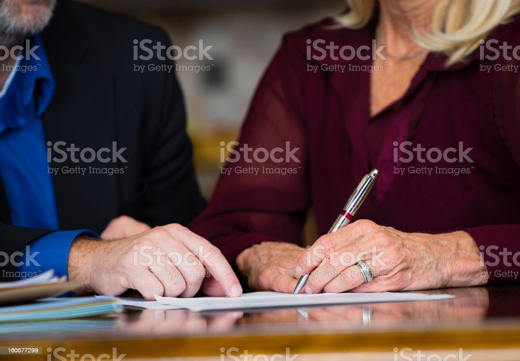 Senior Contract stock photo