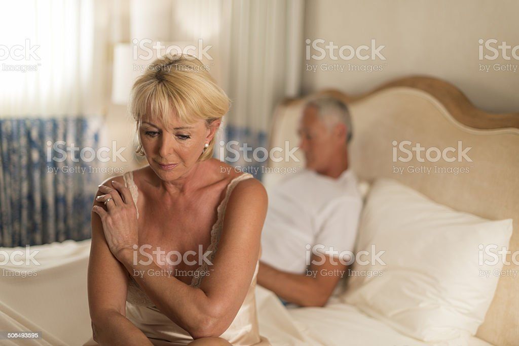 Senior Couple Arguing royalty-free stock photo