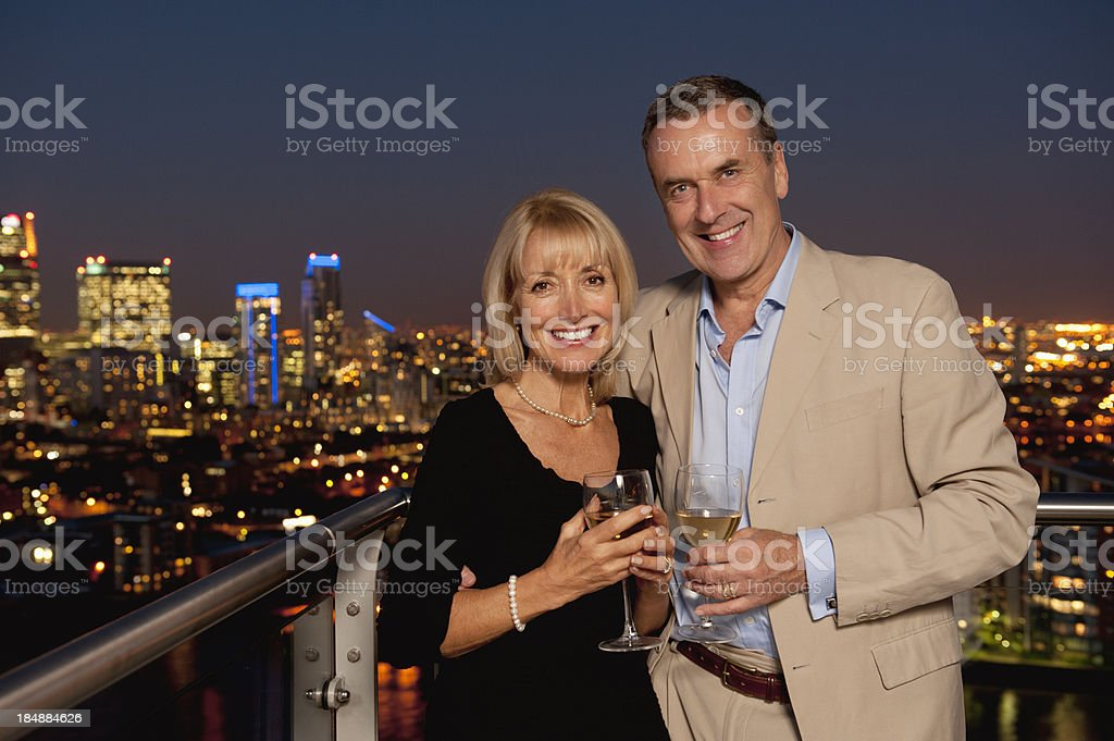 Senior Couple at Night royalty-free stock photo