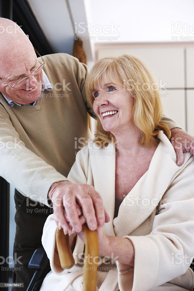 Senior Couple at the Hospital royalty-free stock photo