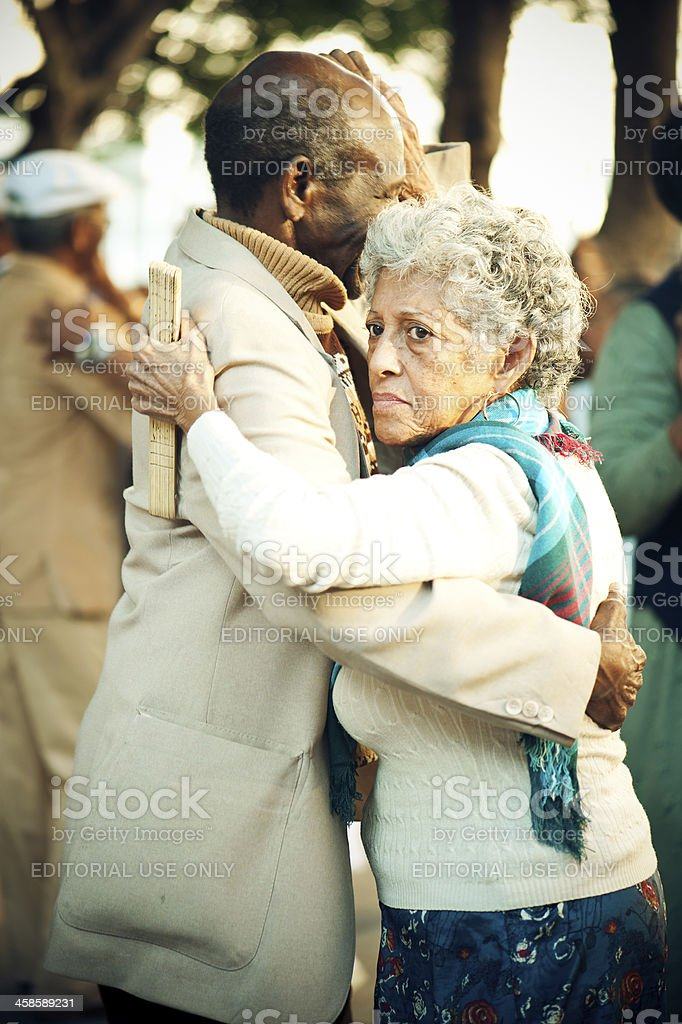 Senior couple dancing, La Havana, Cuba royalty-free stock photo