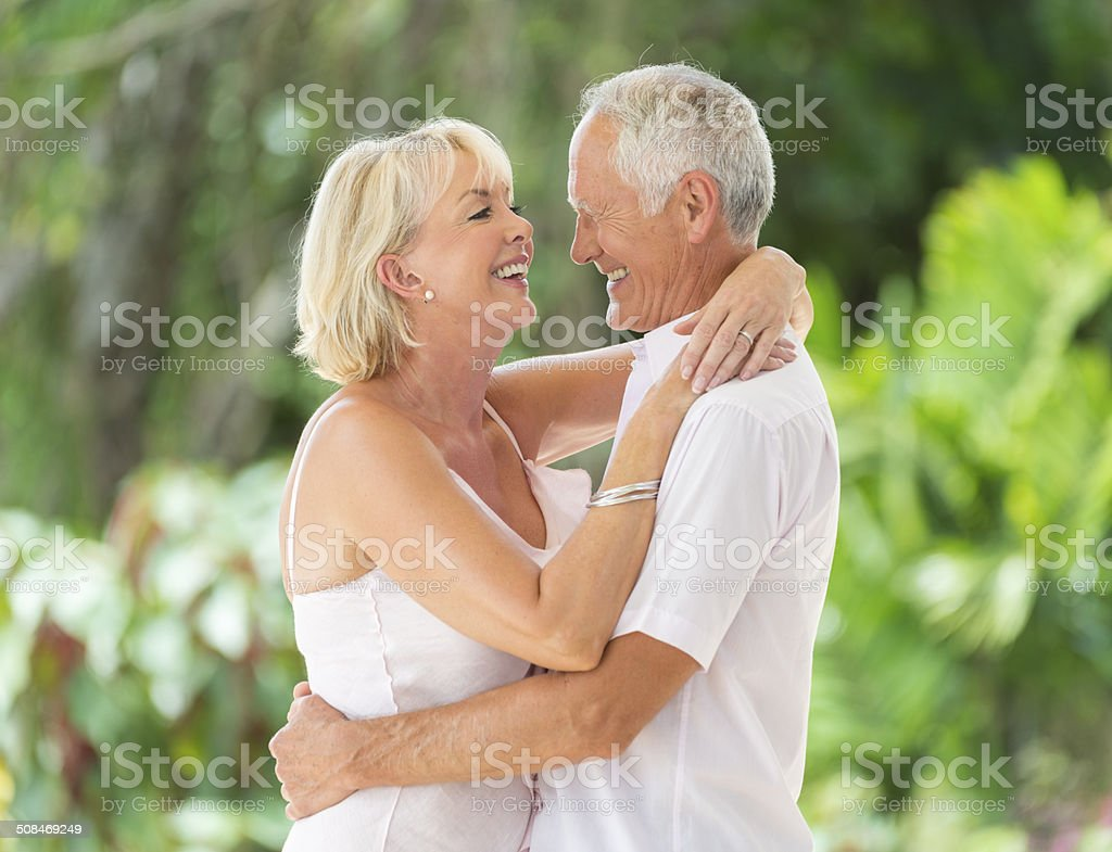 Senior Couple Dancing royalty-free stock photo