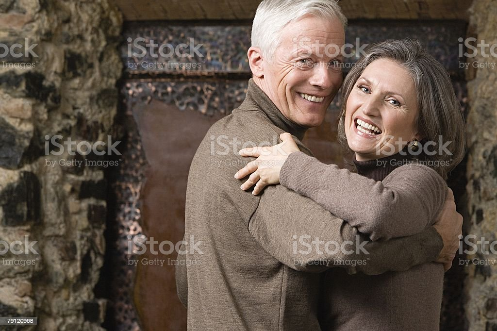 A senior couple dancing royalty-free stock photo