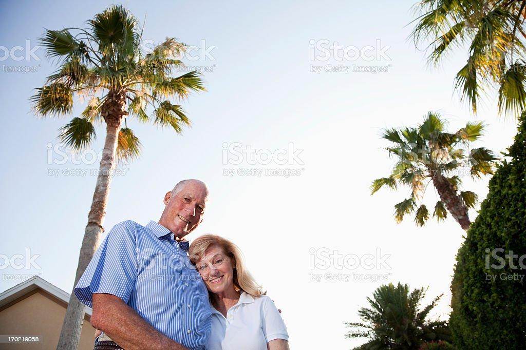 Senior couple enjoying retirement. stock photo