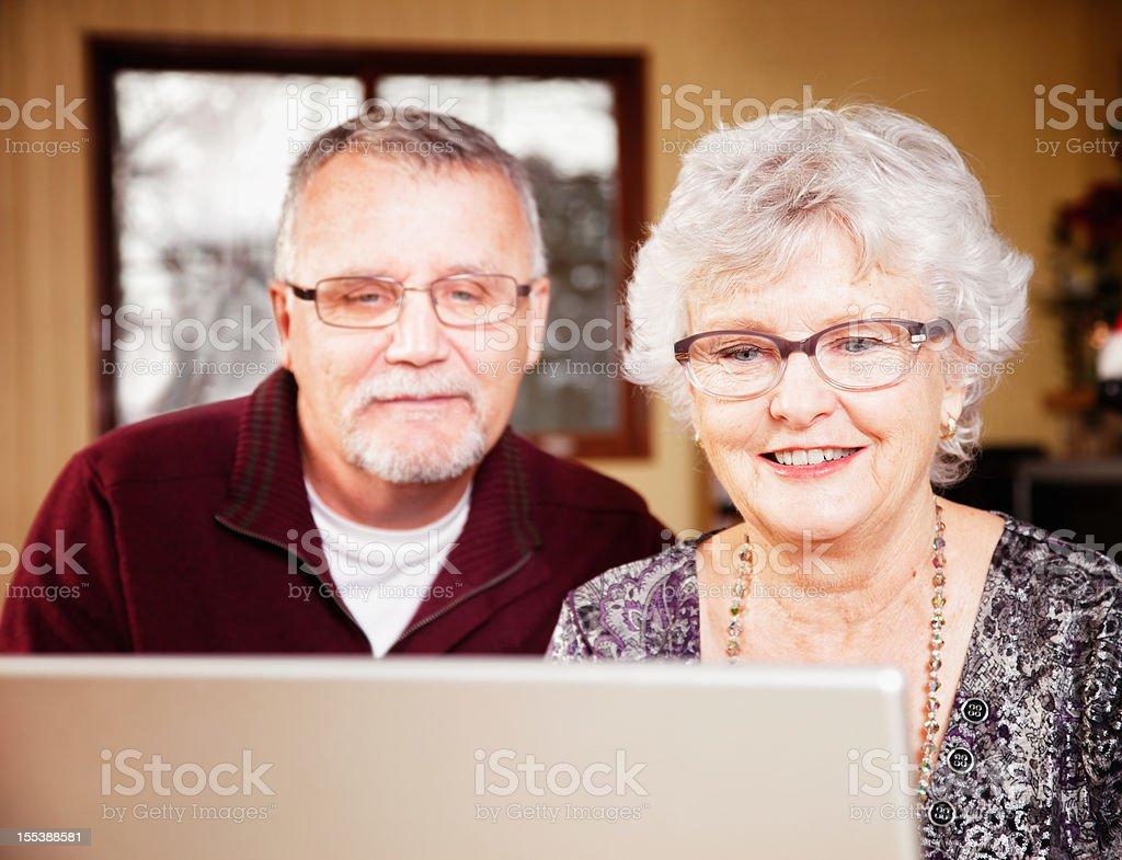 Senior couple enjoying the net royalty-free stock photo