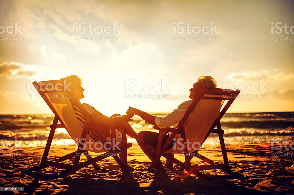 Senior couple enjoying their golden years royalty-free stock photo