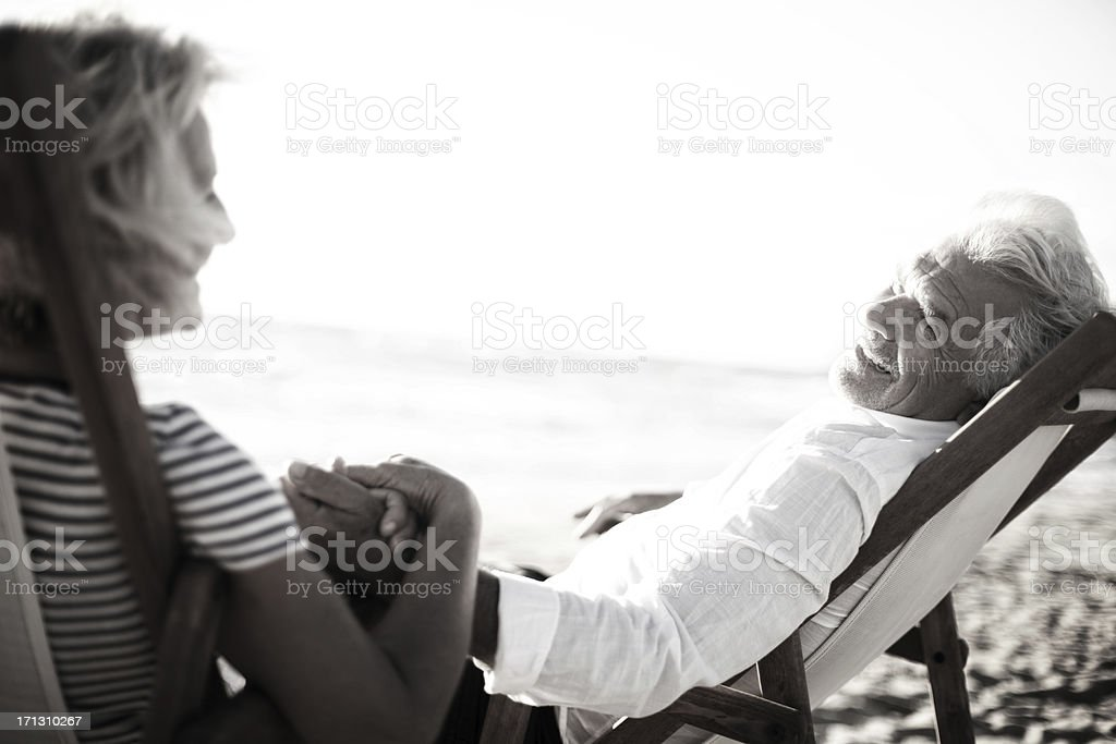 Senior couple enjoying their marriage royalty-free stock photo