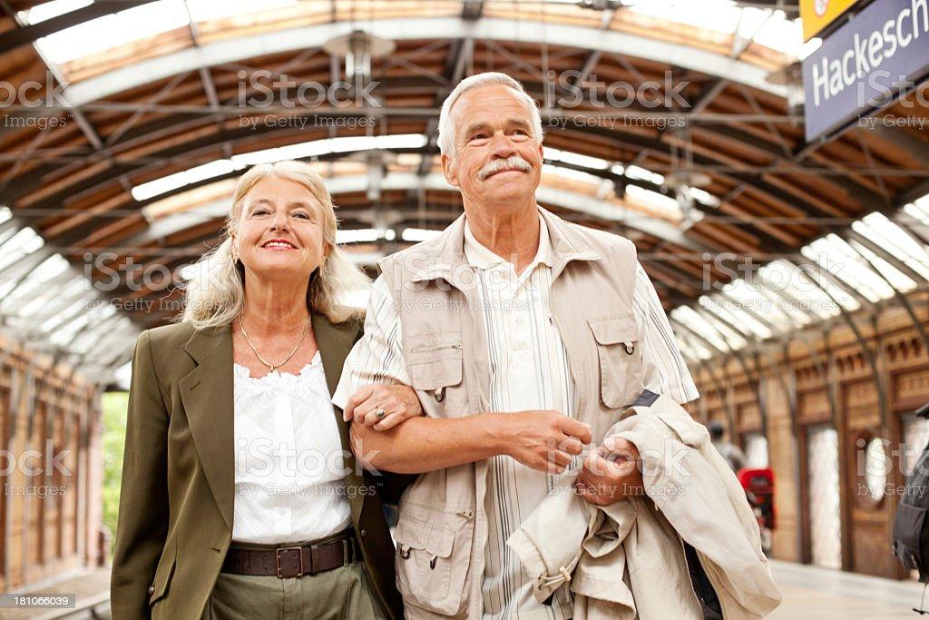 Senior couple enjoying time together stock photo