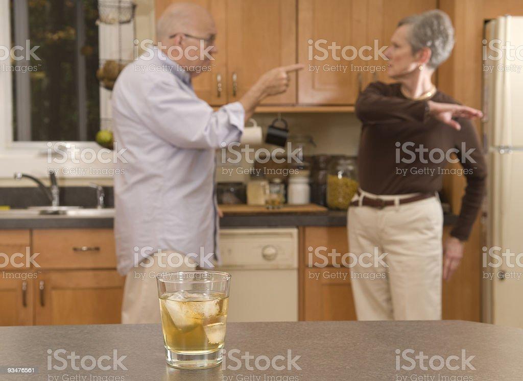 Senior couple fighting royalty-free stock photo