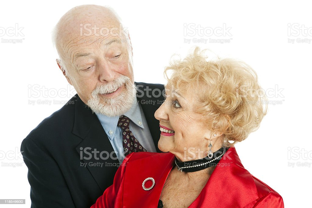 Senior Couple Flirting royalty-free stock photo
