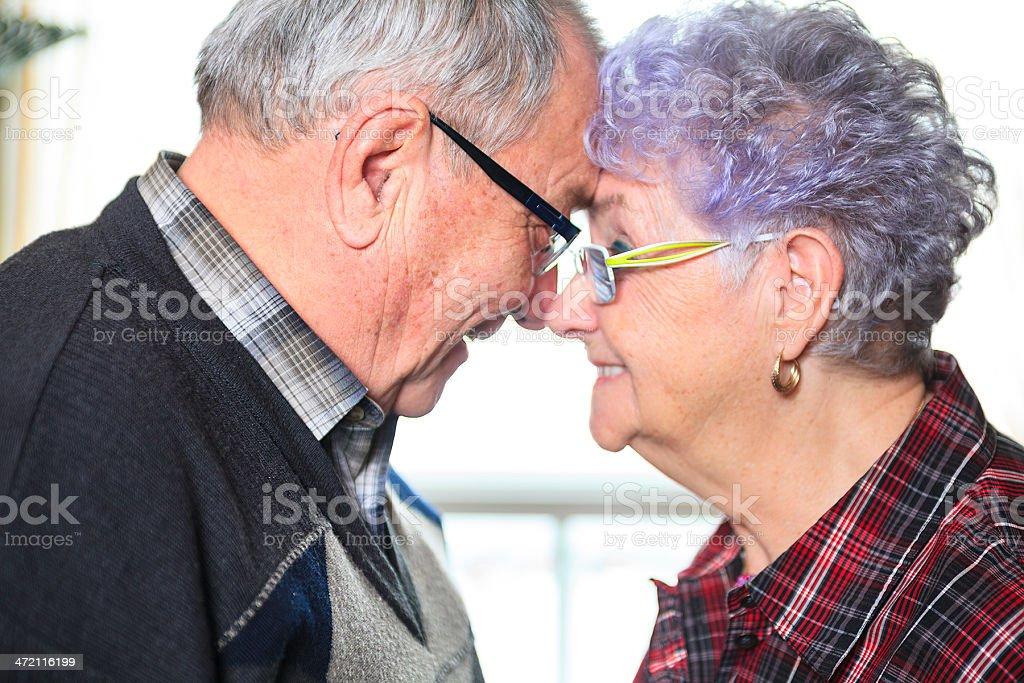 Senior Couple - Forehead stock photo