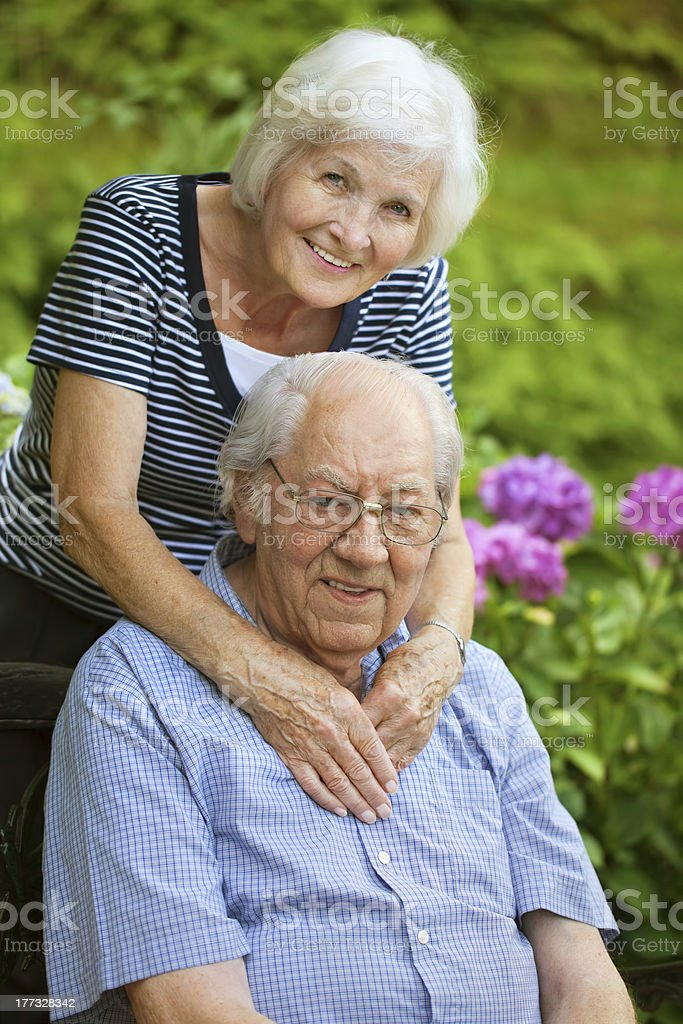 Senior couple happy royalty-free stock photo